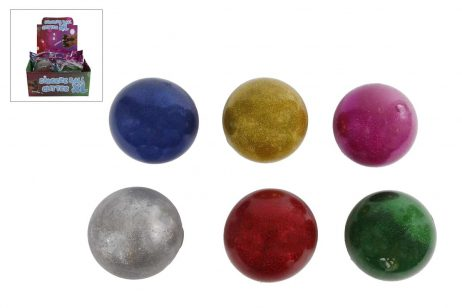 MAXI BALLE SQUEEZE (Diamètre 9 cm - Paillettes) Assortiment 6 coloris