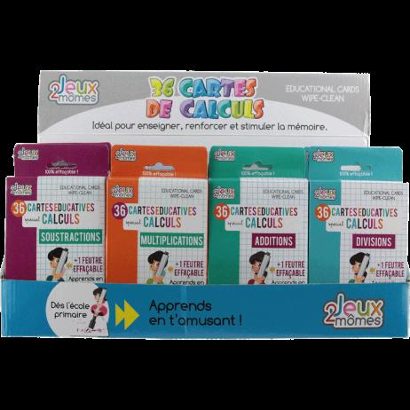 PACK CARTES DE CALCULS (Cartes effaçables + feutre)