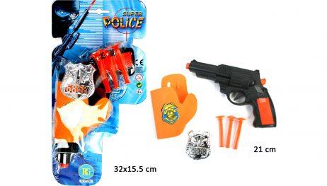 COFFRET PISTOLET POLICE (Pack avec accessoires)