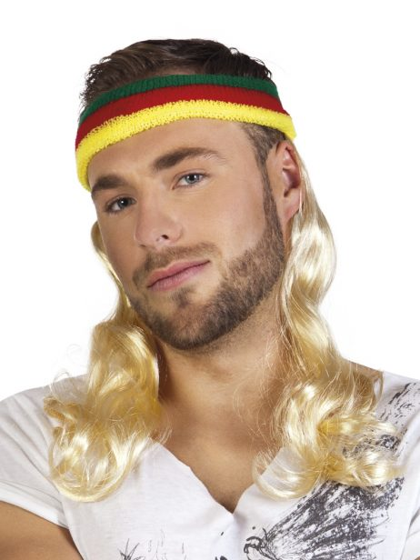 BANDEAU MULTICOLORE (Perruque blonde et longue)