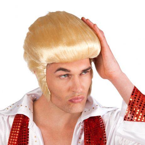PERRUQUE ROI DU ROCK (Perruque star ou célébrité) Perruque blonde