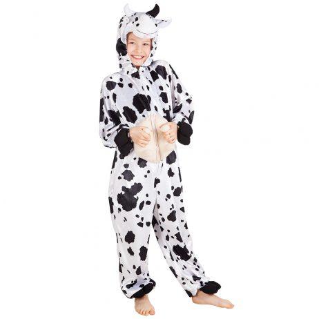 DÉGUISEMENT JEUNE VACHE (Kigurumi pyjama peluche) Taille enfant - 140 cm