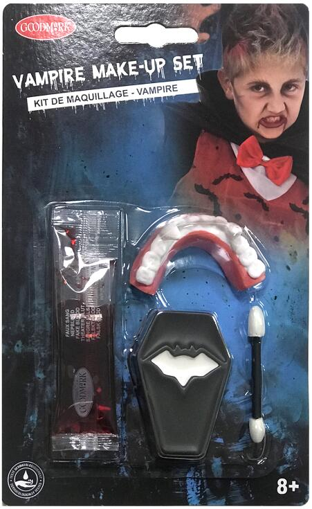 MAQUILLAGE DE DRACULA (Kit du vampire)