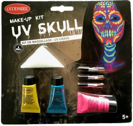 MAQUILLAGE UV HALLOWEEN (Pack squelette néon)