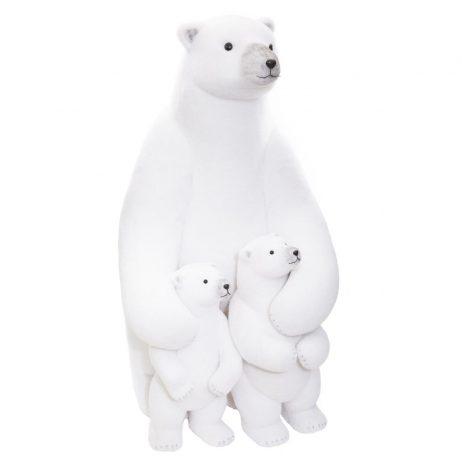 MAMAN OURS ET OURSONS (Taille géante 95 cm)