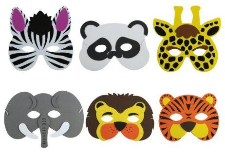MASQUES D'ANIMAUX (Thème de la jungle) Masques en mousse