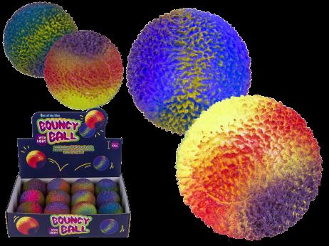 BALLES ARC EN CIEL A LED (Balles rebondissantes) Boite 12 pièces assorties