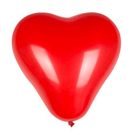 BALLON EN COEUR ROUGE (Pack de 6 ballons 25 cm)