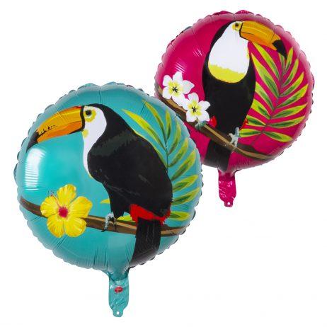BALLON EN FEUILLE TOUCAN (Ballon aluminium 45 cm)