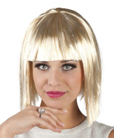 PERRUQUE GIGI GLAMOUR (Blonde et lamée argent)