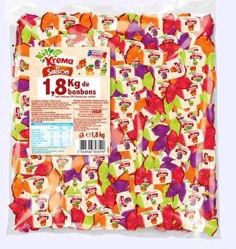 BONBONS KREMA DE SAISON (Sac de 1.8 kg de bonbons)