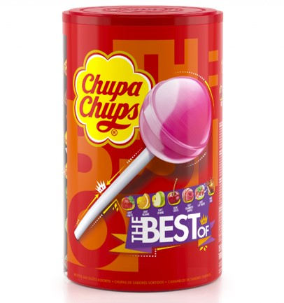 CHUPA CHUPS ASSORTIES (Tubo de 150 sucettes)