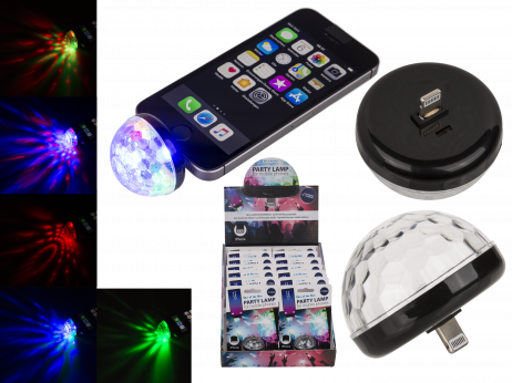 BOULE DISCO POUR IPHONE (Lampe adaptable Iphone)