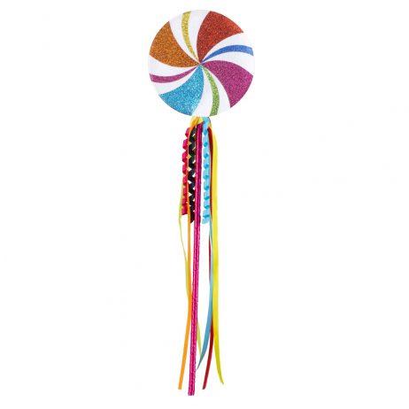 GRANDE SUCETTE LOLLIPOP (Taille 45 cm - Multicolore) Sucette décorative