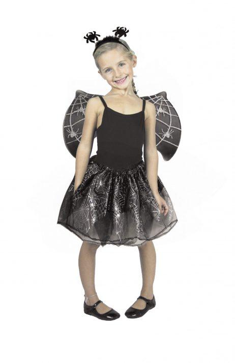 SET DE PETITE ARAIGNÉE (Serre tête, ailes, tutu) Taille enfant de 4 à 10 ans