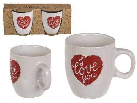 COFFRET MUGS I LOVE YOU (Pack duo St Valentin)