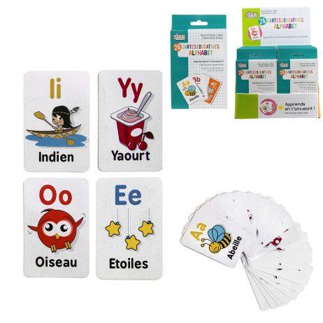 CARTES ÉDUCATIVES MOTS (J'apprend l'alphabet)