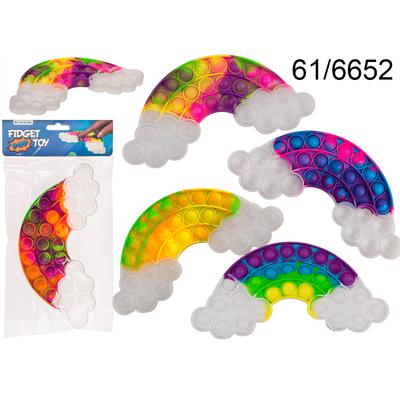 FIDGET POP TOY ANTI STRESS (Formes nuages colorés) Sensoriel -Push pop bubble