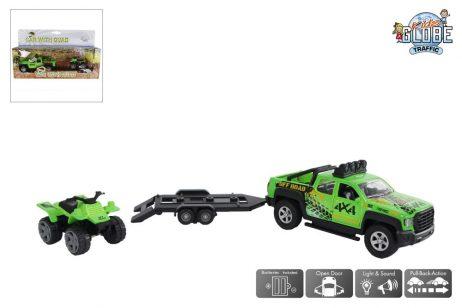 4 X 4 SUV REMORQUE QUAD (Sonore et lumineux 29 cm)