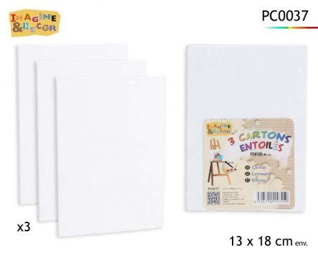 PACK 3 CARTONS ENTOILÉS (Taille 13 x 18 cm)
