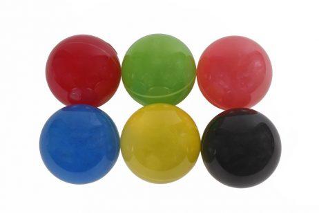 BALLE GALAXY LUMINEUSE (Balle rebondissante 8.5 cm) Pack 6 balles assorties