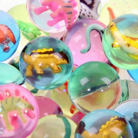 BALLES REBONDISSANTES (Pack 50 balles dinosaures) Diamètre 4 cm environ