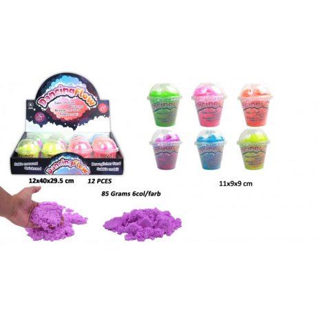 POT DE PÂTE DANCING FLOW (Sable magique - 6 coloris ) Pots de 85 grammes