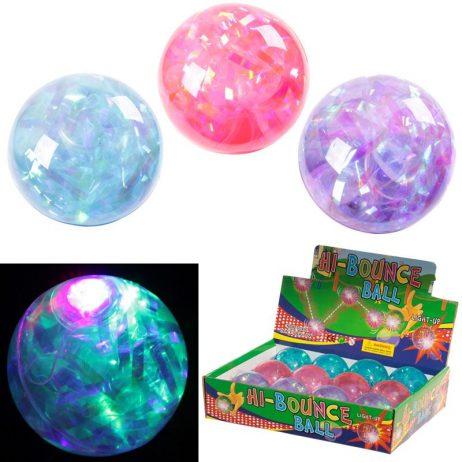BALLES REBONDISSANTES (Thème de l'Espace 6.5 cm) Pack 12 balles lumineuses